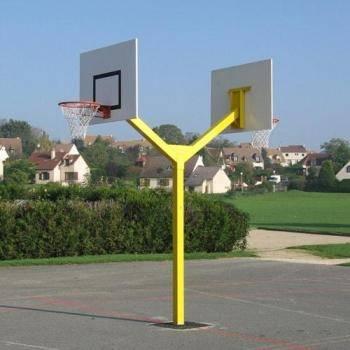 Double panneau de basket extérieur
